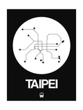 Taipei White Subway Map Prints by  NaxArt