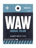 WAW Warsaw Luggage Tag II Art by  NaxArt