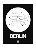 Berlin White Subway Map Prints by  NaxArt