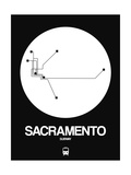 Sacramento White Subway Map Posters by  NaxArt