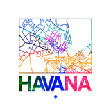 Havana Watercolor Street Map Posters by  NaxArt