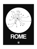 Rome White Subway Map Posters by  NaxArt