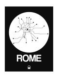 Rome White Subway Map Posters av  NaxArt