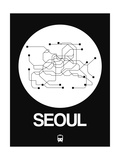 Seoul White Subway Map Posters by  NaxArt