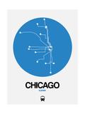 Chicago Blue Subway Map Affischer av  NaxArt
