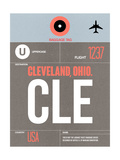 CLE Cleveland Luggage Tag II Prints by  NaxArt