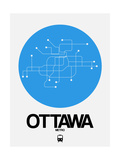 Ottawa Blue Subway Map Posters by  NaxArt