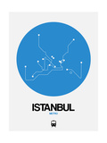Istanbul Blue Subway Map Prints by  NaxArt