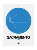 Sacramento Blue Subway Map Posters by  NaxArt