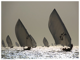 Sailboat Silhouette Poster af Y. Haider