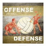 Offense, Defense Prints by  Sports Mania