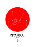 Istanbul Red Subway Map Prints by  NaxArt