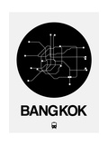 Bangkok Black Subway Map Art by  NaxArt