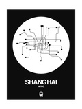 Shanghai White Subway Map Prints by  NaxArt