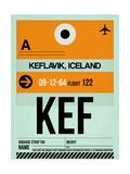 KEF Keflavik Luggage Tag II Art by  NaxArt