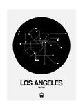 Los Angeles Black Subway Map Print by  NaxArt
