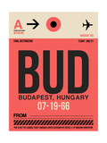 BUD Budapest Luggage Tag I Posters by  NaxArt