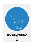 Rio De Janeiro Blue Subway Map Posters by  NaxArt