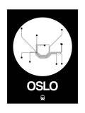 Oslo White Subway Map Posters by  NaxArt
