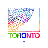 Toronto Watercolor Street Map Posters by  NaxArt