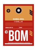 BOM Mumbai Luggage Tag II Prints by  NaxArt