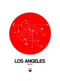 Los Angeles Red Subway Map Prints by  NaxArt