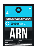 ARN Stockholm Luggage Tag I Prints by  NaxArt