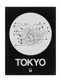 Tokyo White Subway Map Posters by  NaxArt