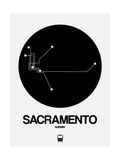 Sacramento Black Subway Map Art by  NaxArt