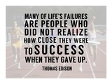 Success - runners Poster by  Sports Mania