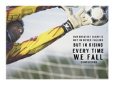 Rising Everytime We Fall Prints by  Sports Mania