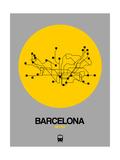 Barcelona Yellow Subway Map Kunstdrucke von  NaxArt