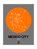 Mexico City Orange Subway Map Poster by  NaxArt