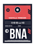 BNA Nashville Luggage Tag I Posters by  NaxArt