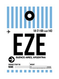EZE Buenos Aires Luggage Tag I Print by  NaxArt