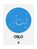 Oslo Blue Subway Map Posters by  NaxArt