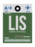 LIS Lisbon Luggage Tag II Prints by  NaxArt