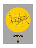 London Yellow Subway Map Kunstdrucke von  NaxArt