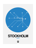 Stockholm Blue Subway Map Posters by  NaxArt