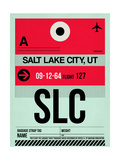SLC Salt Lake City Luggage Tag I Posters by  NaxArt