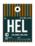 HEL Helsinki Luggage Tag II Art by  NaxArt