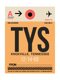 TYS Knoxville Luggage Tag I Posters by  NaxArt