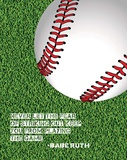 Baseball Quote Print by  Sports Mania