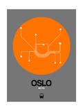 Oslo Orange Subway Map Prints by  NaxArt