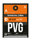 PVG Shanghai Luggage Tag II Prints by  NaxArt