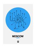 Moscow Blue Subway Map Posters by  NaxArt
