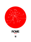 Rome Red Subway Map Posters by  NaxArt
