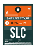 SLC Salt Lake City Luggage Tag II Art by  NaxArt