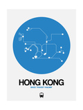 Hong Kong Blue Subway Map Posters by  NaxArt