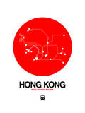 Hong Kong Red Subway Map Posters by  NaxArt